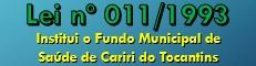 Fundo Municipal de Saúde - Cariri do Tocantins