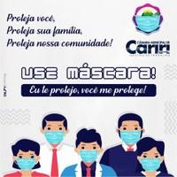 Faça sua parte! Use máscara de proteção facial.